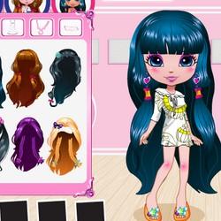 long dress up games hair